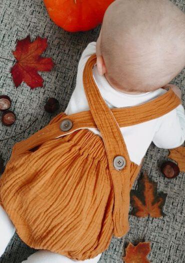 Baby Romper Musselin_Selbstgenähte Kinderkleidung Shop_Romper
