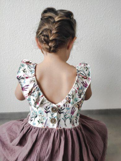 Musselin Kleid GROW & FLY handgenäht