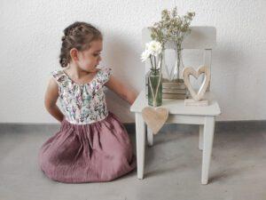 Kleid Musselin handgenäht Kinder GROW & FLY